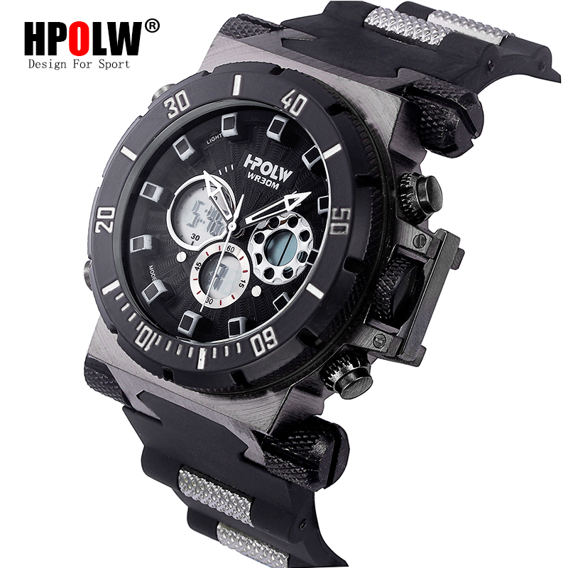 HPOLW Luxury Brand Mens Sports Watches Dive Digital LED Military Watch Men Fashion Casual Electronics Wristwatches Clock hpolw тяжелый серебряный