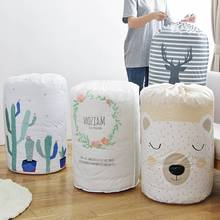 Creative Large Organizer Foldable Laundry Basket Storage Bag Clothes Packaging Kids Toys Portable Home Supplies