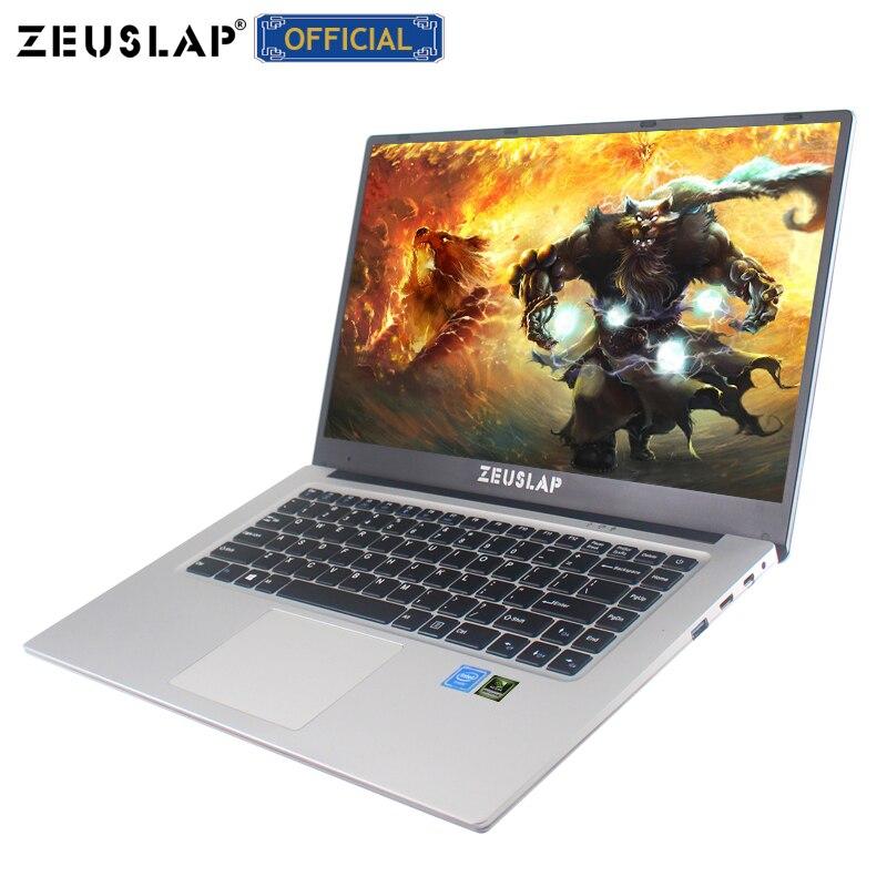 ZEUSLAP 15.6 pollici 6 GB di RAM + 128 GB/256 GB/512 GB SSD Nvidia GT940M Intel Quad core CPU 1920*1080 P IPS Da Gioco Del Computer Portatile Del Computer portatile