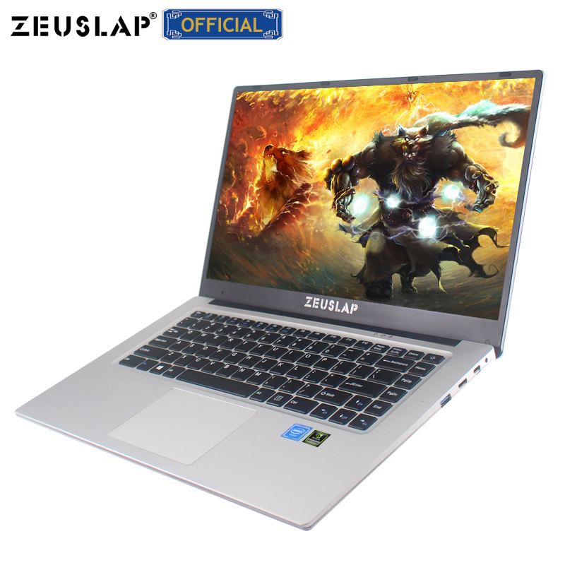 ZEUSLAP 15.6 pouces 6 GO de RAM + 128 GB/256 GB/512 GB SSD Nvidia GT940M Intel Quad core CPU 1920*1080 P IPS Jeu Portable Ordinateur portable