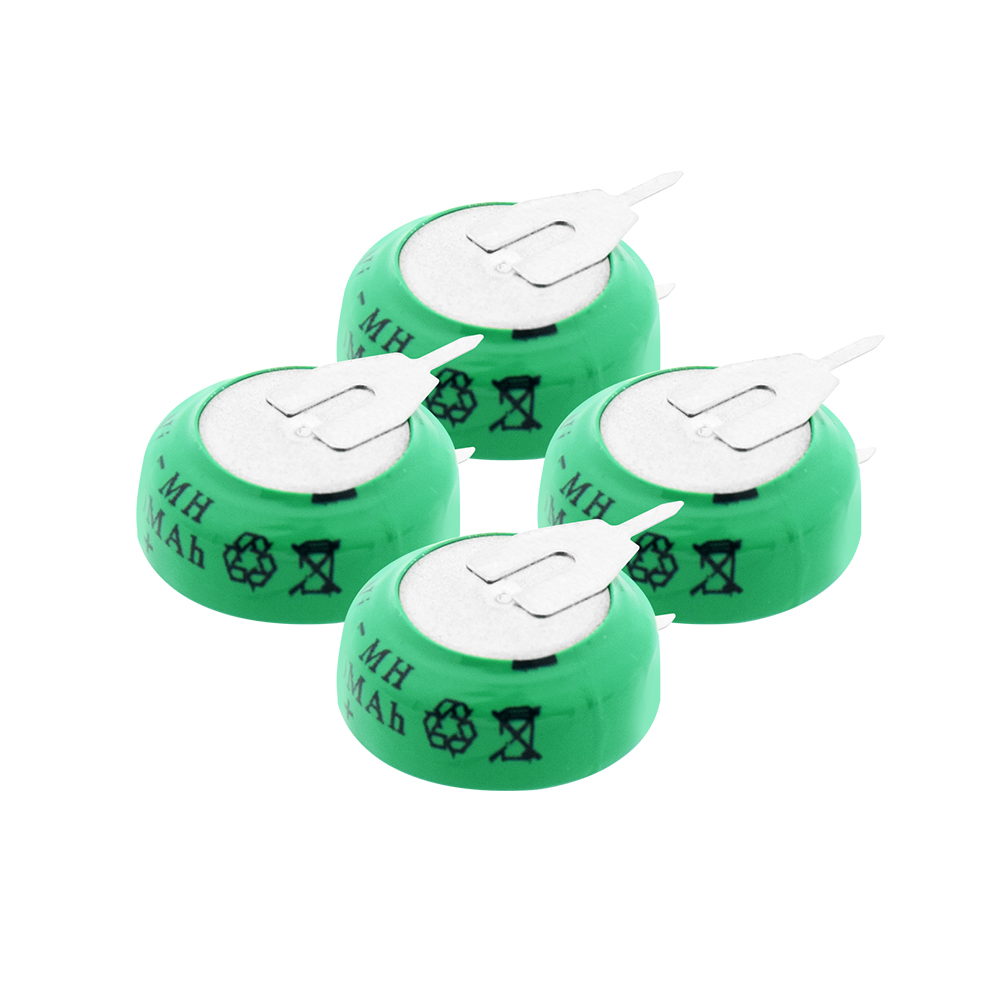 New 1-10PCS 1.2V 80mAh Ni-MH Ni MH Rechargeable Batteries With Solder Pins Rechargeable Button Cell Battery For Electric Toys