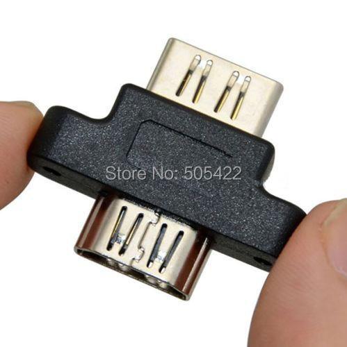 50pcs lot wholesale New Molds HDMI Female to Female Panel Mount Adapter Coupler Extender for PS3