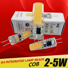 G4 LED Lamp 3W 5W COB Bulb AC DC 12V 220V Mini Lampada Light 360 Beam Angle Lights Replace Halogen Chandelier