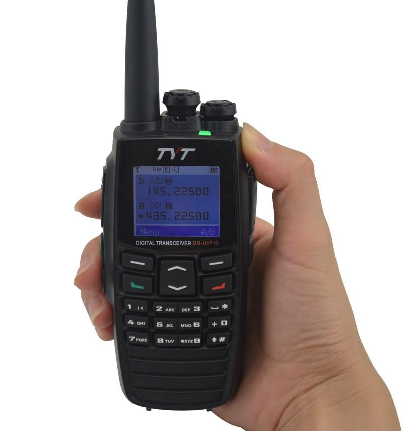 2pcs TYT DM-UVF10 Digital Walkie Talkie DTMF DPMR Dual Band Radio Ham Transceiver  5W 256CH Scrambler Portable Two-way Radio