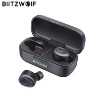 Blitzwolf BW FYE4 Bluetooth V5.0 TWS True Wireless Earbuds Earphone + Charging Box Hi Fi Stereo Sound Bilateral Calls Waterproof