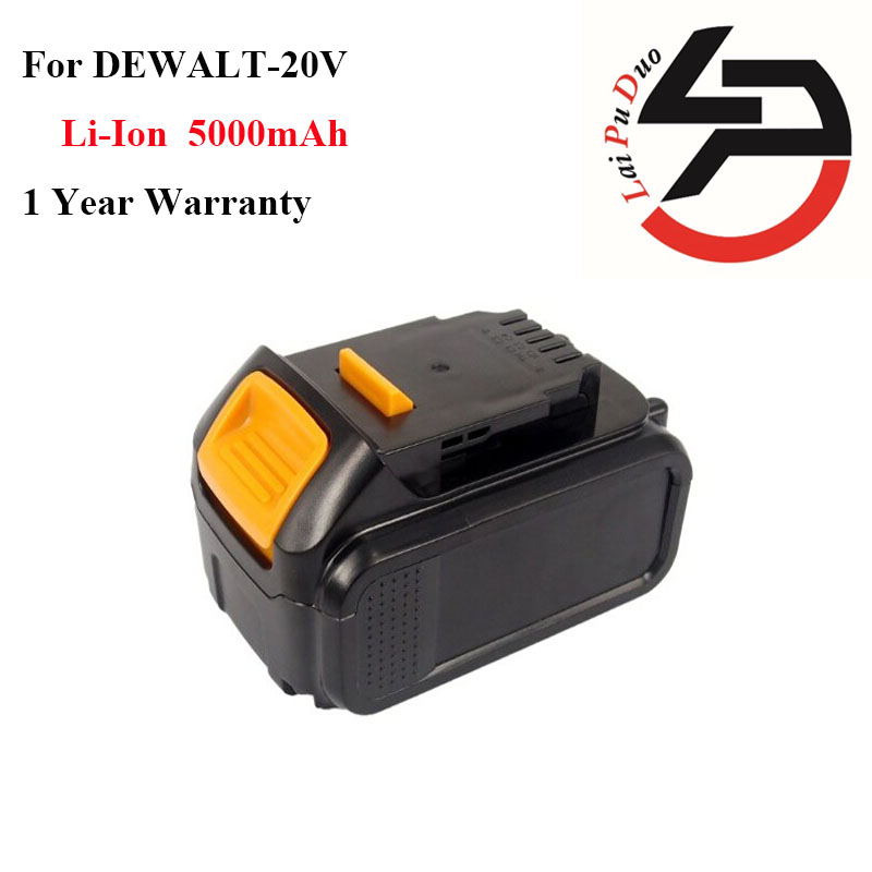 Hot!!!High quality Li-Ion 20V 5.0Ah Replacement Power Tool Battery for DEWALT DCB182,DCB200,DCB204,DCB183,DCB184 high quality 20v 2000mah li ion rechargeable battery power tool replacement battery for black