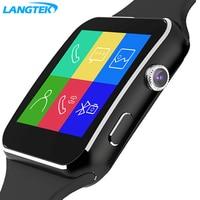 Smart Watch X6. Bluetooth HDFashion Curved Display Sync Facebook Whatsapp Message Support Sim PK Xiaomi Watch Smart dz09