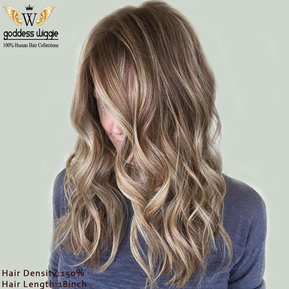 6a blonde highlight lace front wigs for women brown root human 6a blonde highlight lace front wigs for women brown root human remi hair wigs blonde soft wavy lace front wigs in human hair lace wigs from hair extensions pmusecretfo Image collections