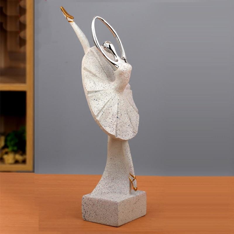 Exquise ballerine fille résine décoration sculpture créative abstraite art fille ameublement