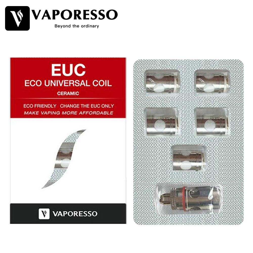100% Original 5pcs Vaporesso Ceramic EUC Coil for Estoc/Target Pro/Eleaf Melo Tank Atomizer e-cig 0.5ohm SS316 Ceramic EUC Coil