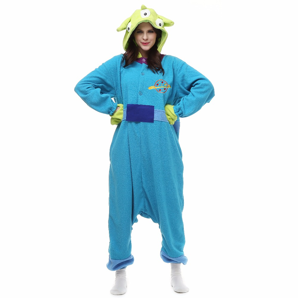 Christmas Three Eyed Monster Onesie Homewear Hoodie Pajamas Sleepwear Robe For Adults
