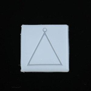 Doreen caixa de silicone resina molde para jóias fazendo quadrado branco geométrico triângulo ferramentas 66mm (2 5/8