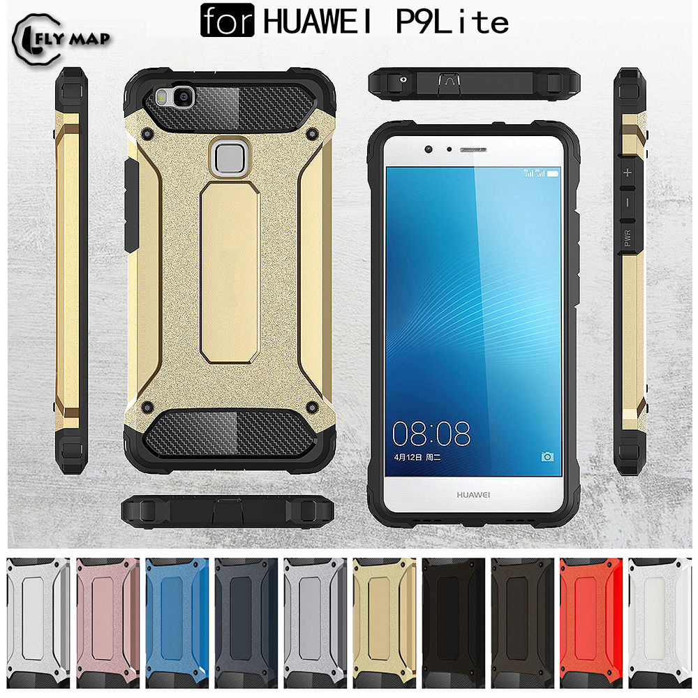 PC Armor TPU Case for Huawei P9 Lite P9Lite VNS-L21 VNS-L31 Silicon Anti-Shock Hard Protection phone Cover for Huawei P 9 Lite