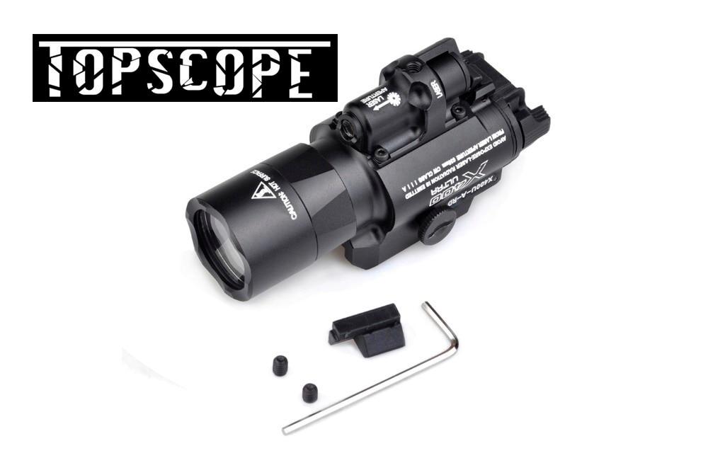 x400u a weapon light high output x400 ultra white light SF X400 X400U Light Ultra Pistol Flashlight Red Laser 20mm Picatinny/ Weaver Rail Mount WPEX367