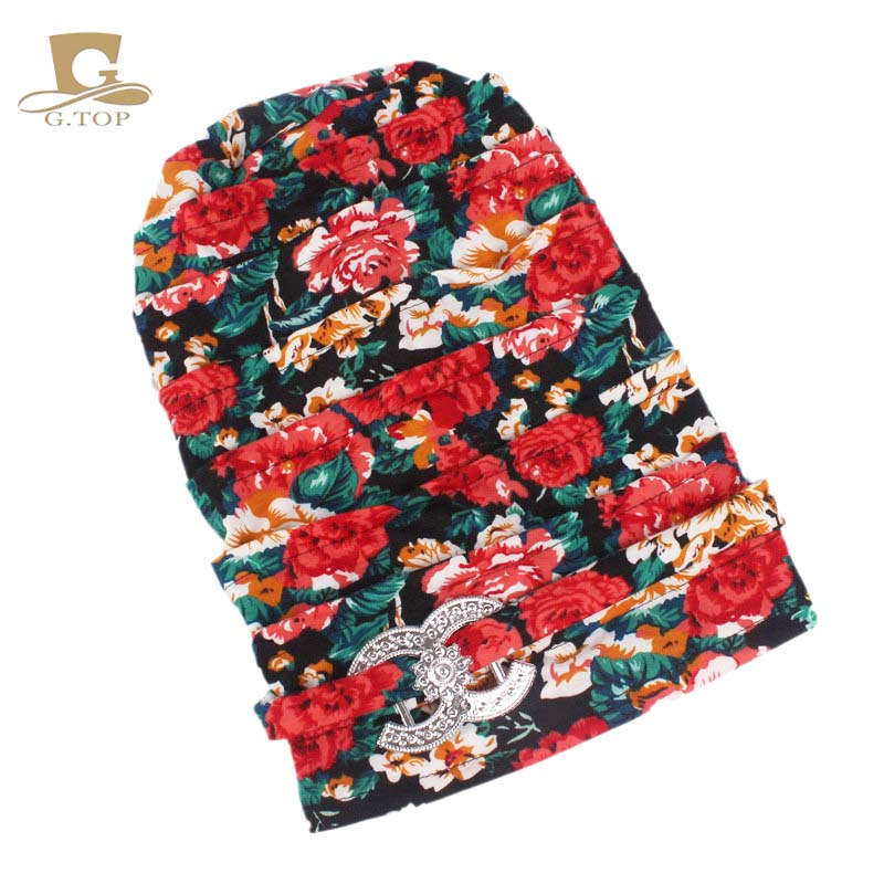 New Fashion Floral Dreadlocks Braids Cap Comfortable Slouchy Baggy Hat Chemo Cap Bandana Hair Loss Bonnet Tube For Women Apparel Accessories