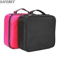 SAFEBET Brand Women Professional Makeup Bag Travel Portable Organizer Necessaries Waterproof Make Cosmetic Bag Cosmetic Case