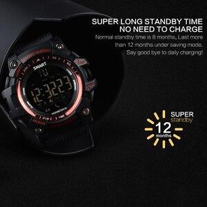 Image 4 - Bluetooth Clock EX16 Smart Watch Notification Remote Control Pedometer Sport Watch IP67 Waterproof Mens Wristwatch