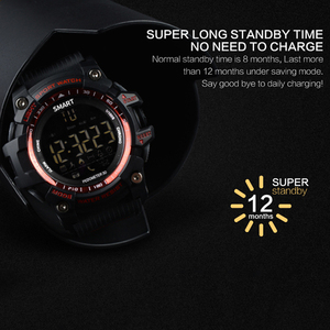 Image 4 - Bluetooth Uhr EX16 Smart Uhr Benachrichtigung Fernbedienung Schrittzähler Sport Uhr IP67 Wasserdichten männer Armbanduhr