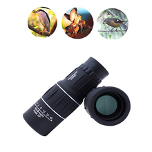 16x52 HD Mini Monocular Telescope Prism Dual Focus Adjusting with Phone Clip Tripod for Hunting Camping Scopes