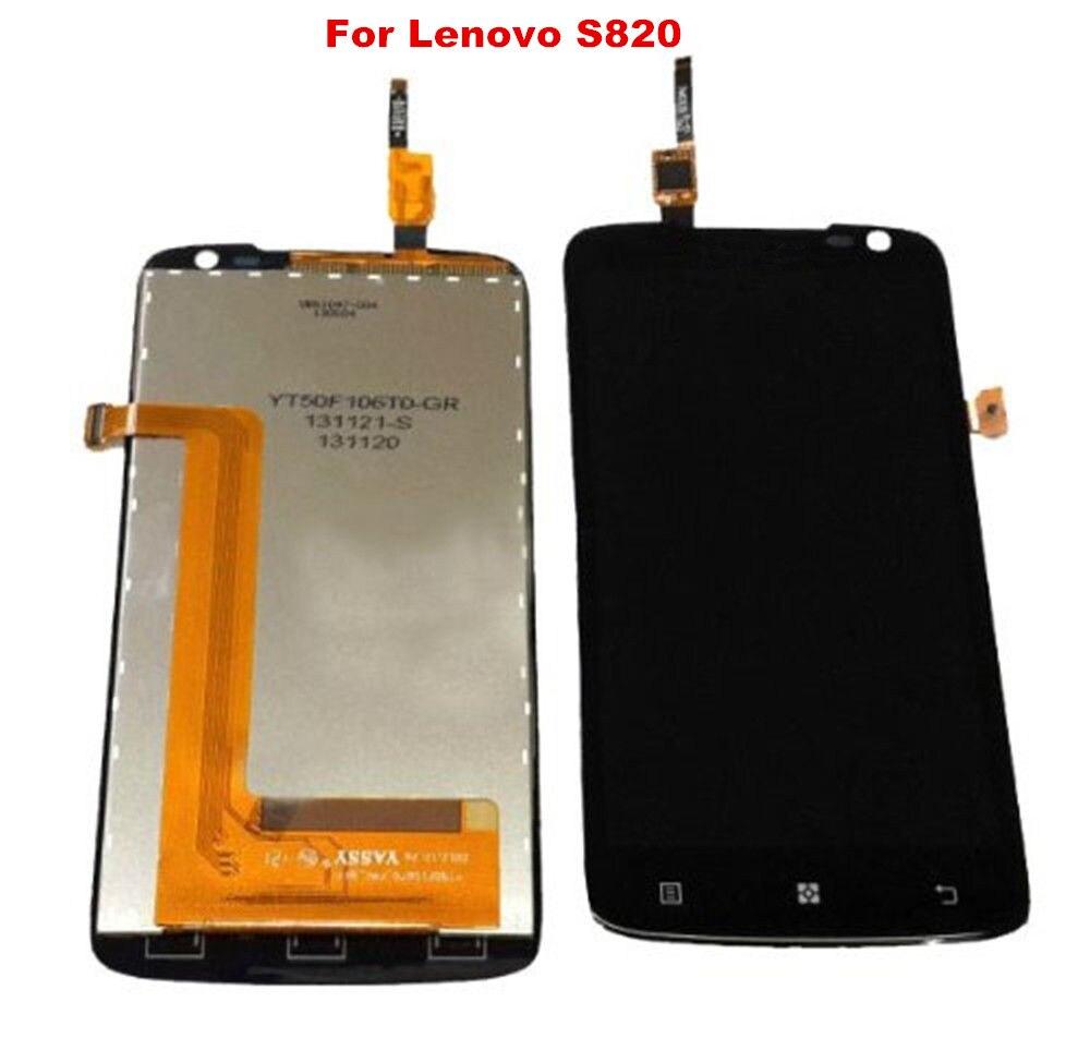imágenes para Para lenovo s820 pantalla táctil de cristal digitalizador y lcd ensamblaje de la pantalla y herramientas gratuitas