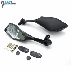 Image 3 - Universal รถจักรยานยนต์สีดำกระจกสกูตเตอร์กระจกด้านหลัง Moto ด้านข้างสำหรับ Kawasaki Z750 Z800 Z900 Z300 Z650 ER6N ER6F ZX10R