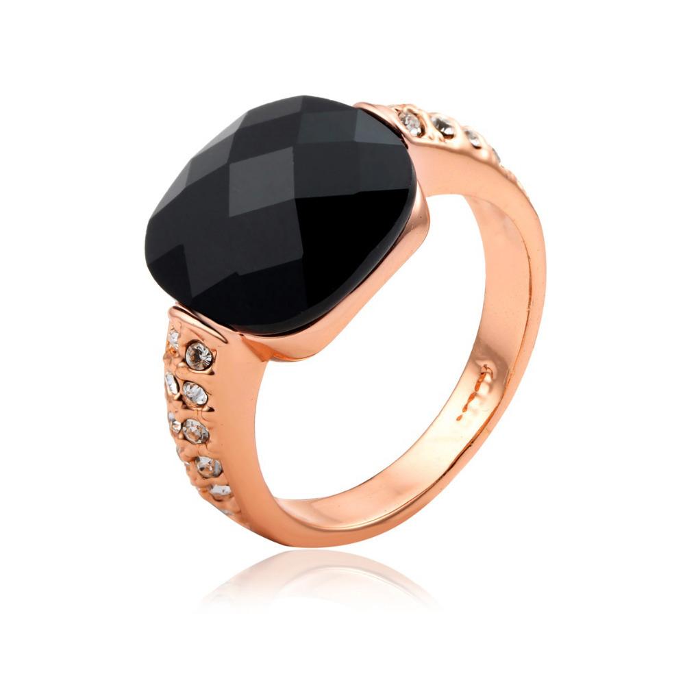 Goldring mit schwarzem stein  Online Get Cheap Rose Gold Ring Mit Schwarzem Stein -Aliexpress ...