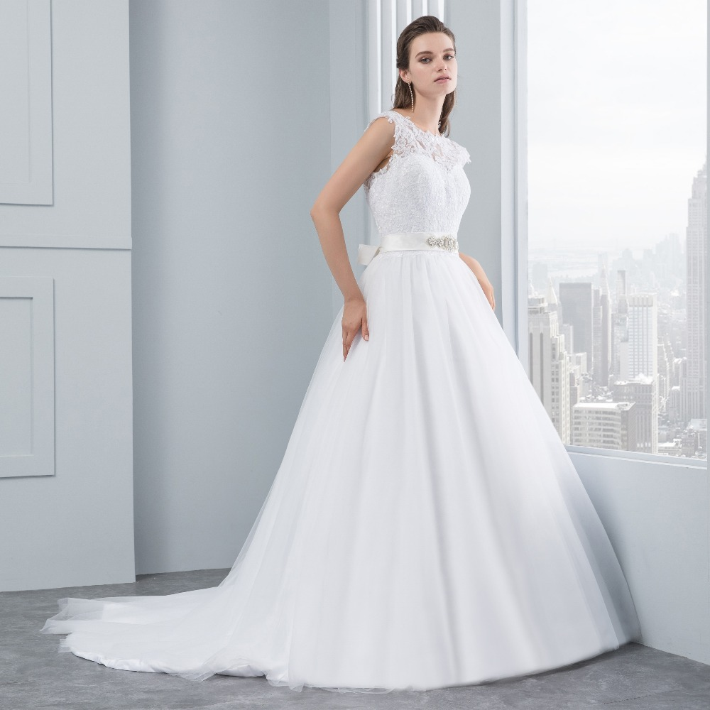 Miaoduo Wedding Dress New Lace Wedding Dresses Satin Backless ...