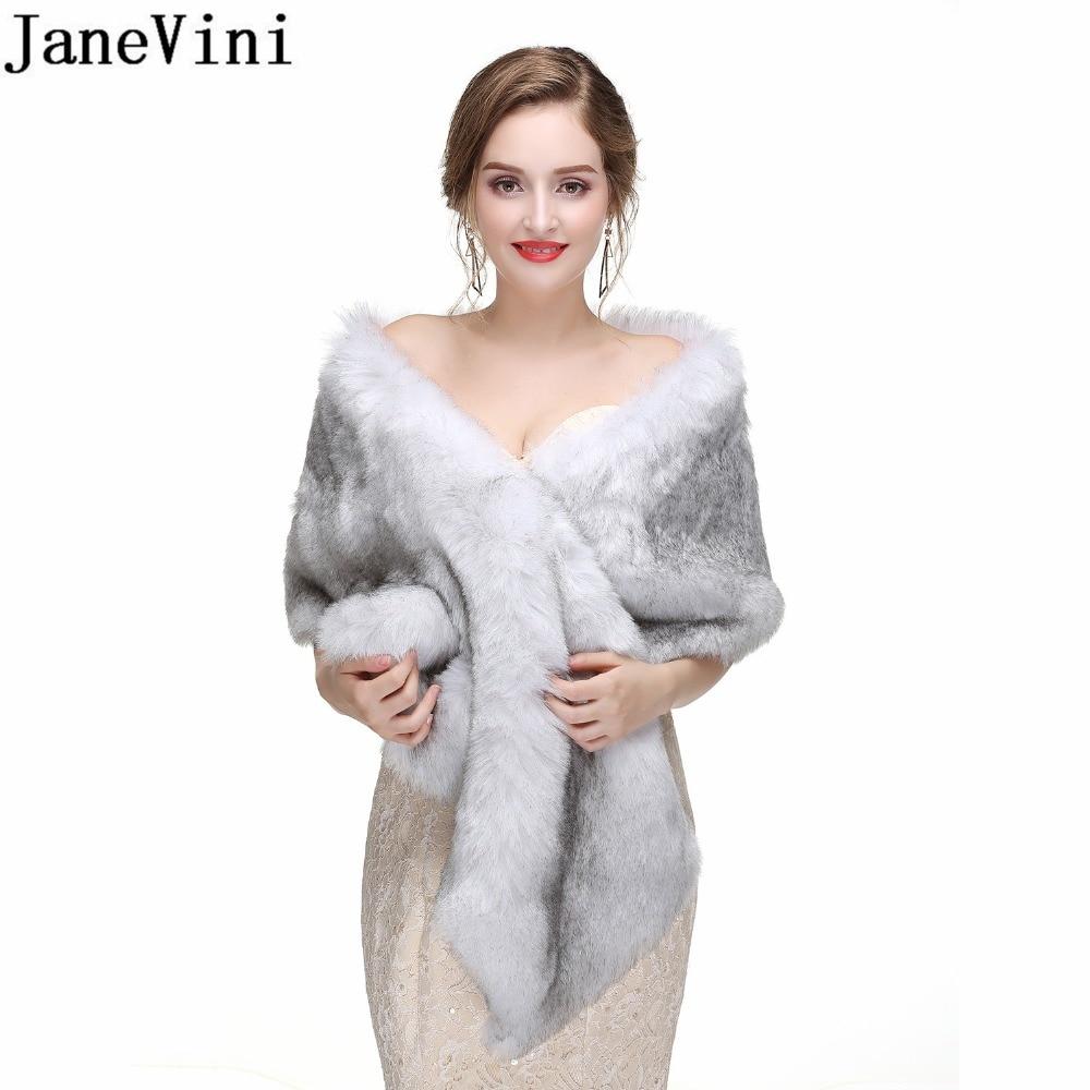 Women Wedding Bridal Ivory Tippet Shawl Wrap Faux Fur Scarf Cappa Formal Party