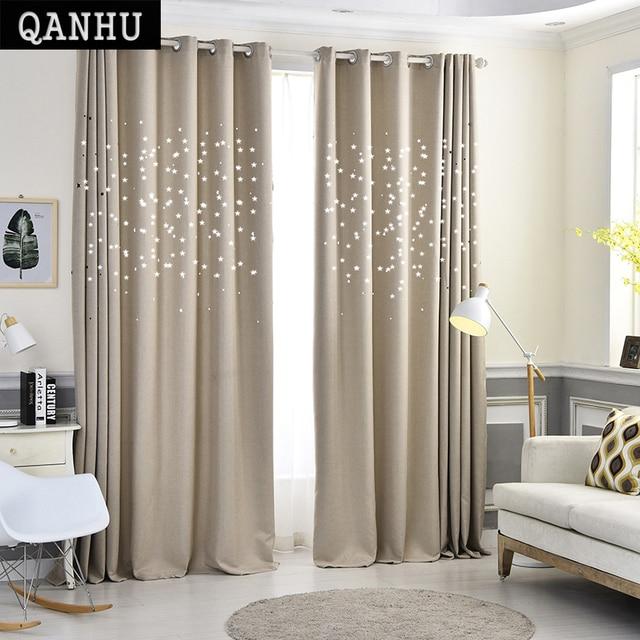 QANHU Modern Yıldız Pencere Perdeleri Oturma Odası için Kaliteli Ücretsiz Nakliye için Yatak Odası Perde Kapı Perde Mutfak plf-10