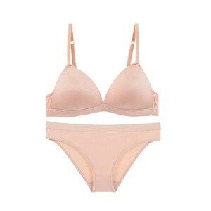 Image 5 - Sexybra セット、なしスチールリングの下着、女性の快適、ない傷跡、ないクロスブレストブラジャー。