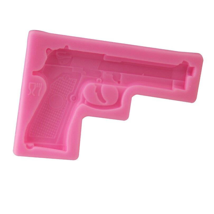 Silicone Gun Toy Fondant Cake Mold DIY Chocolete Soap ...