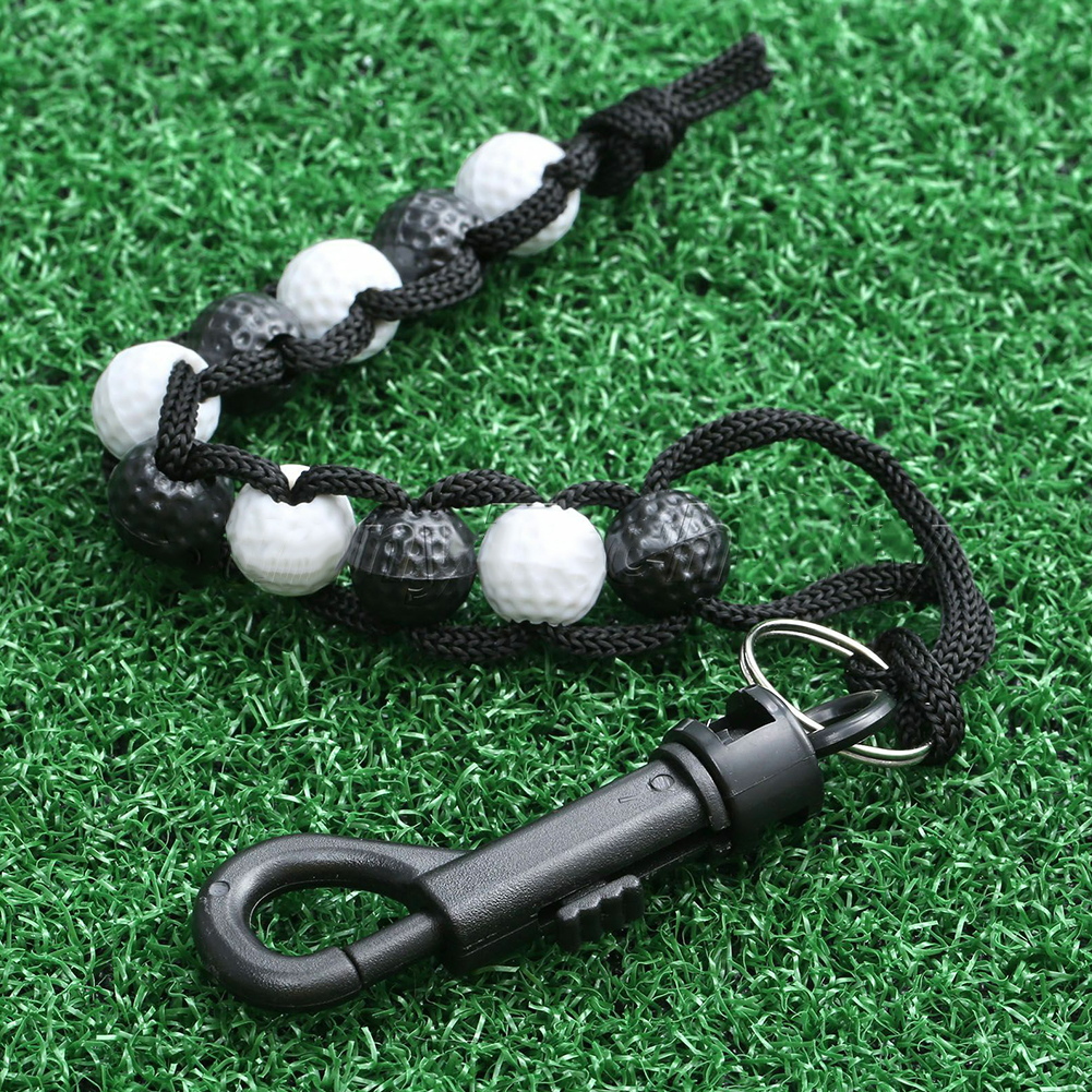 Durable Portable With Clip Nylon Golf Score Remenber Counter Professional Training Aid Chain Putt Beads