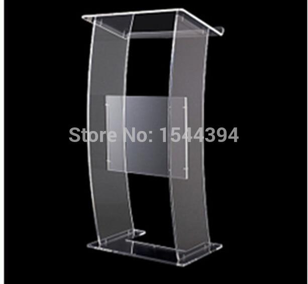 Clear Acrylic Podium Clear Acrylic Furniture Hot Sell Simple Cheap Acrylic Lectern Acrylic Podium Pulpit Lectern Podium