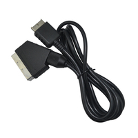 100pcs a lot Scart Cable AV Audio Video Cord for playstaion 2 3 for PS2 for PS3 Slim