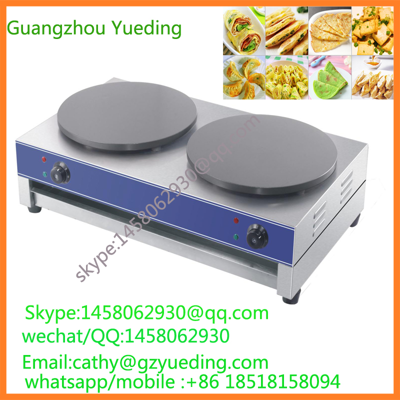 snack machine double head electric crepe maker/crepe machinesnack machine double head electric crepe maker/crepe machine