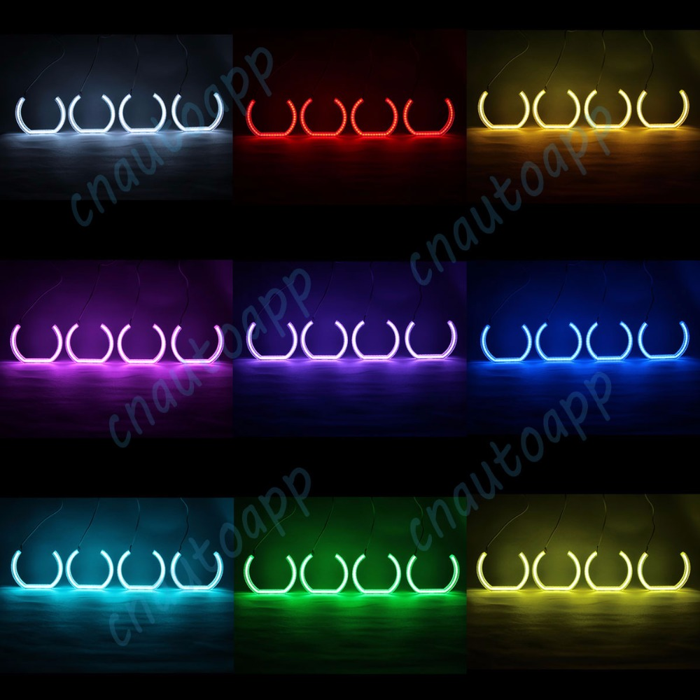Angel Eyes RGB Crystal Bluetooth Wireless WIFI Controller Multi-Color RGB LED Car Lights DRL For 2010-16 BMW 5 Series F10 F11 4 90mm rgb led lights wholesale price led halo rings 12v 10000k angel eyes rgb led angel eyes for byd for chery for golf4