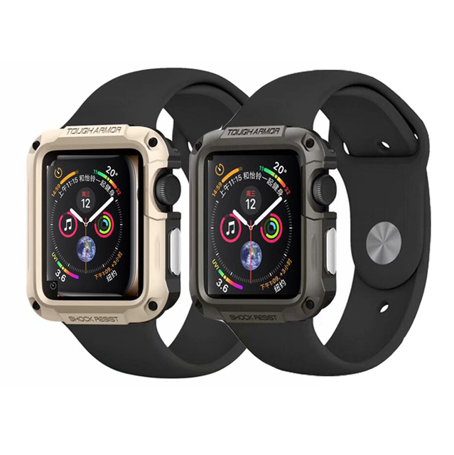 super popular 2d156 198ac US $3.19 20% OFF|Brightly colored armor 2 in 1 over For Apple Watch Case  bumper 38mm 42mm 40mm 44mm Case for iWatch Series 1 2 3 4-in Watchbands  from ...