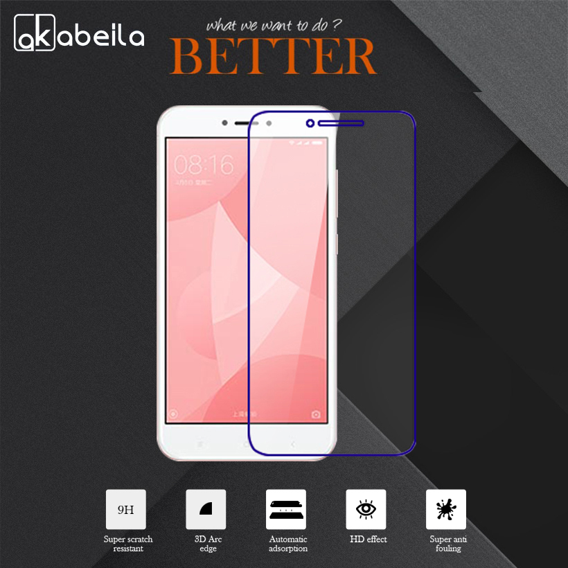 AKABEILA Tempered Glass Film For <font><b>Xiaomi</b></font> <font><b>Redmi</b></font> <font><b>4</b></font> <font><b>Pro</b></font> <font><b>Redmi</b></font> <font><b>4</b></font> <font><b>Prime</b></font> <font><b>3GB</b></font> <font><b>32GB</b></font> 16GB ROM <font><b>Redmi</b></font> 4S <font><b>Prime</b></font> 5.0 Inch Ultra Thin Screen image