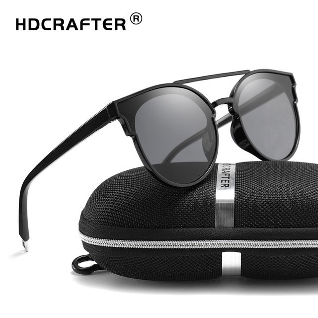 d25c19d575a HDCRAFTER Cat Eye Sunglasses Women Vintage Summer Ladies Sunglass Female  Sun Glasses For Women UV400