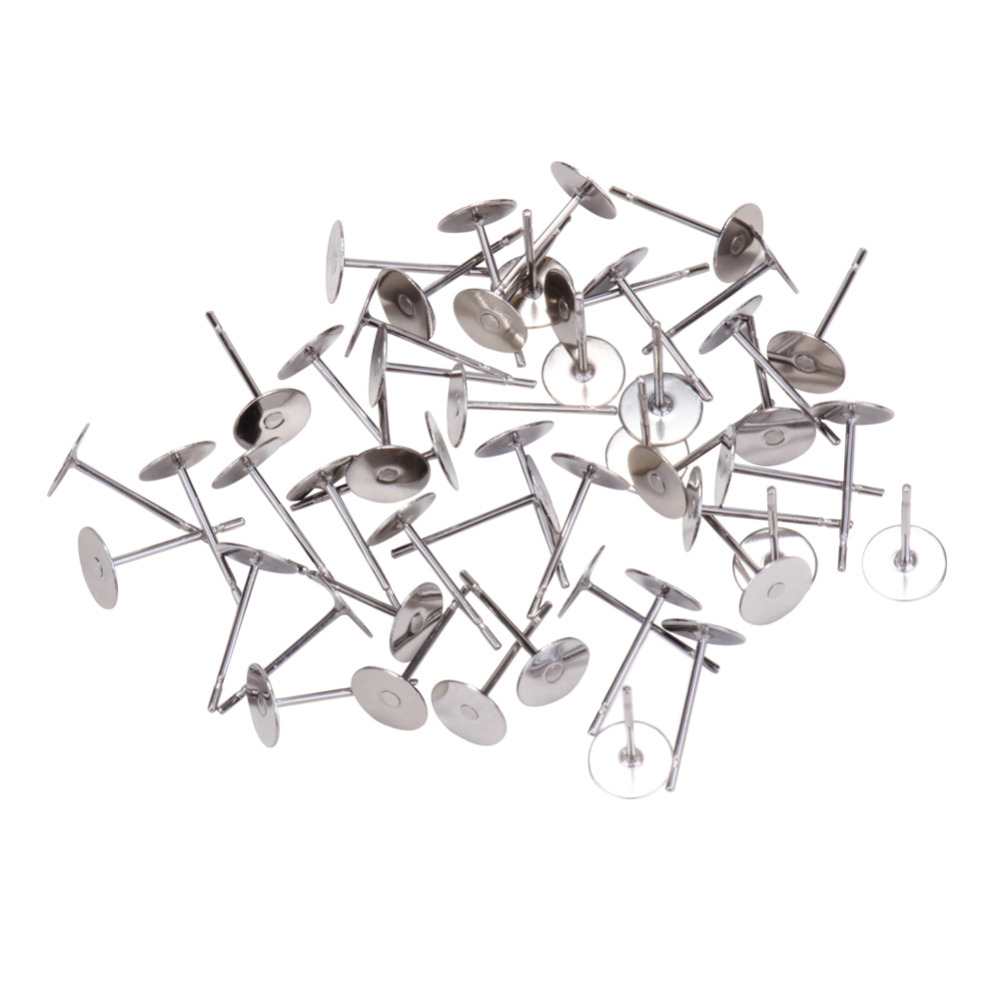 Jewelry Findings 304 Stainless Steel Ear Stud Components 12x5mm Pin: 0.7mm