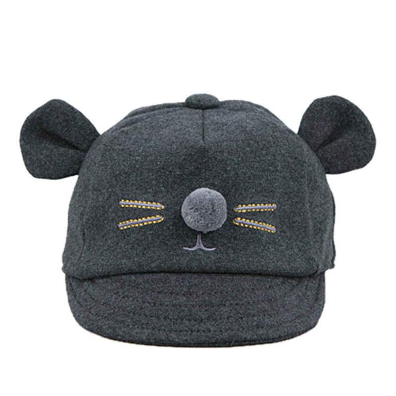 facec1ef51d ... MUQDEW New Autumn Winter Warm Fashion Baby Hat Kids Cap Kids Bunny  Rabbit Visor Baseball Caps ...