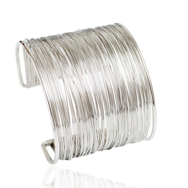 F & U Nieuwe Collectie Mode Curve Goudkleur Brede Geopende Manchet Armbanden en Armbanden Dames Sieraden