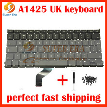 "5PCS/lot New UK Keyboard For Apple Macbook Pro Retina 13"" A1425 UK Keyboard without backlight late2012 early 2013year"