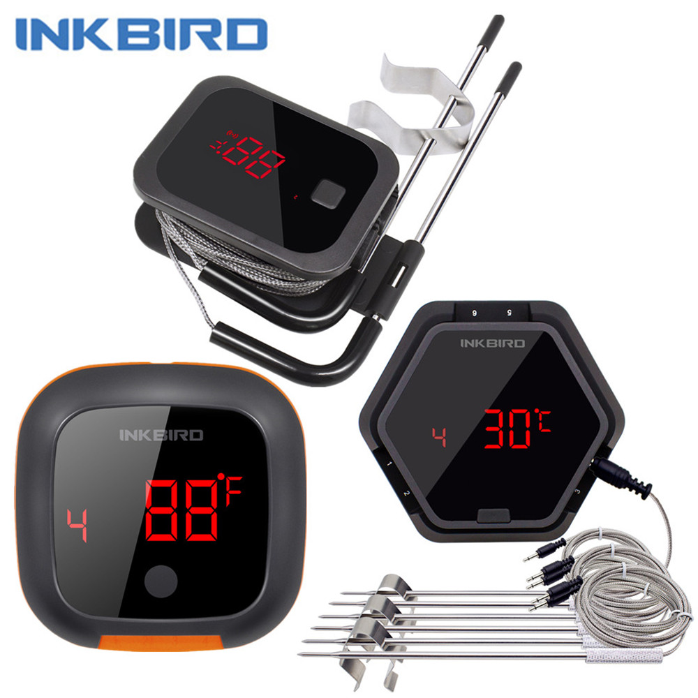 IBT 2X 4XS 6X 3 Types Food Cooking Bluetooth Wireless BBQ Thermometer IBT-2X Probes&Timer For Oven Meat Grill Free App Control