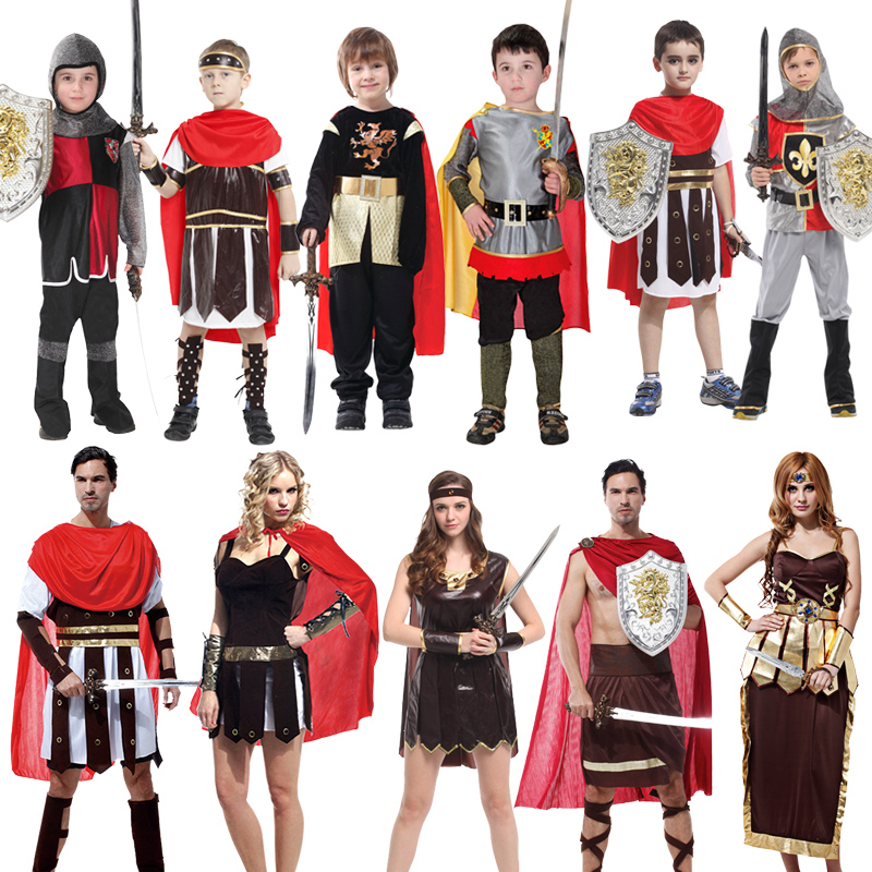Guard Hercules Roman Gladiator Clothing Children Set Roman Warrior Cosplay Costume Halloween Party  Men Events Props Dress up