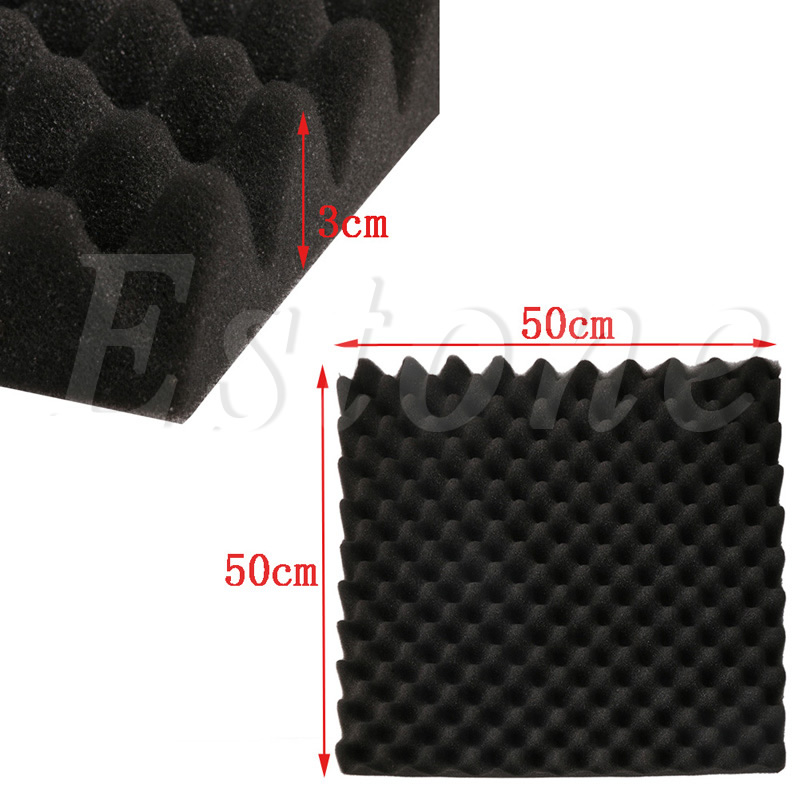 50x50x3cm Acoustic Soundproof Sound Stop Absorption Pyramid Studio Foam Sponge in Parts Accessories from Sports Entertainment