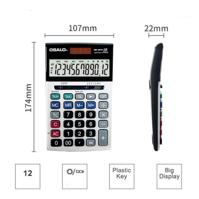 New 20TV Financial accounting tax rate calculator 12 big screen display solar power calculators for office School in Calculators from Computer Office