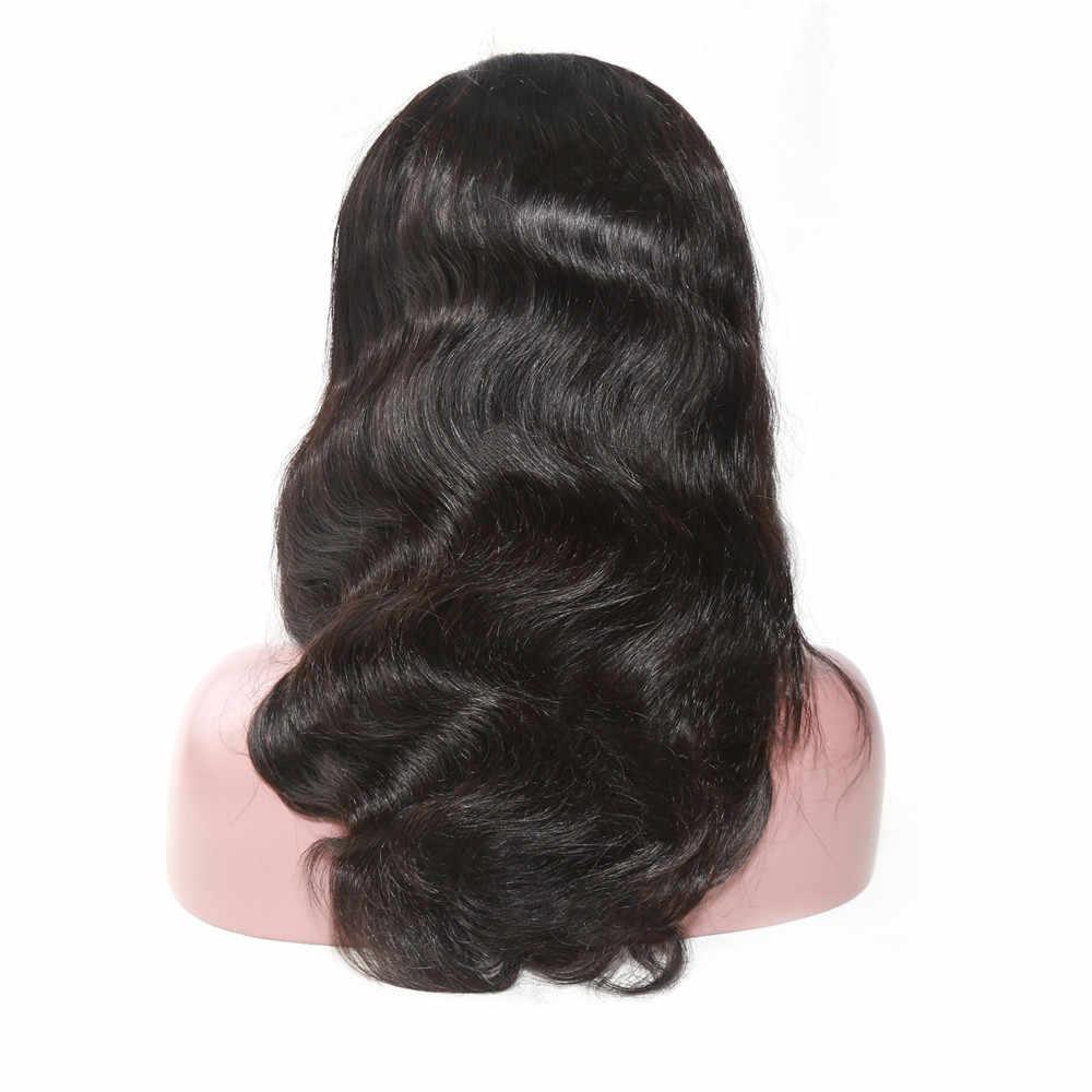 Alibd Body Wave 360 peluca Frontal de encaje Pre desplumado con pelo de bebé cabello humano brasileño Remy de encaje suizo de frente a oreja pelucas largas