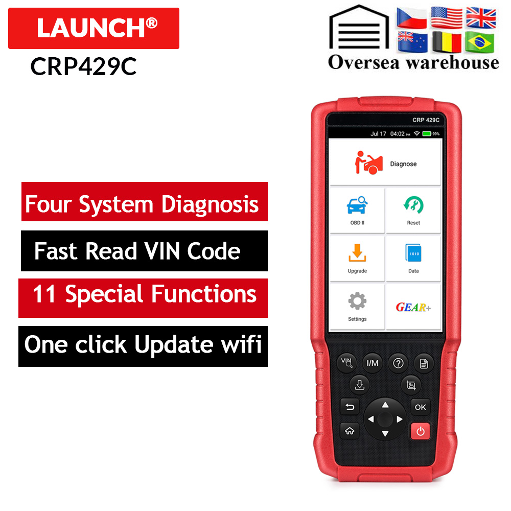 LAUNCH X431 CRP429C CRP 429 Auto diagnostic tool for Engine ABS Airbag AT 11 Service Free