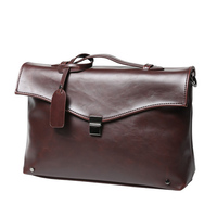 f9a700f6355d7 New Business Men Handbags OL Crazy Horse Leather Men Lawyer Document Leather  Office Shoulder Bags For